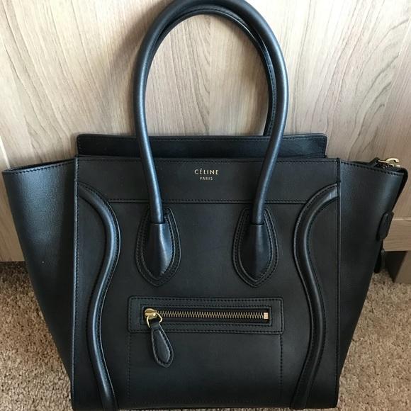 Celine Handbags - CÉLINE MICRO LUGGAGE HANDBAG IN SMOOTH CALFSKIN